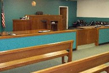 Photo of court room.